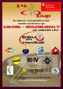 Plakat Handballturnier 2017