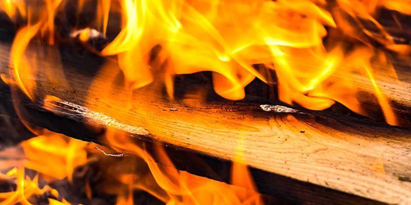 Gartenabfall-Verbrennung