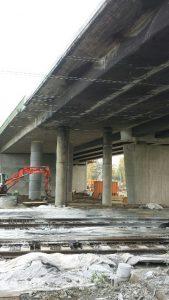 Baustelle an der Brücke