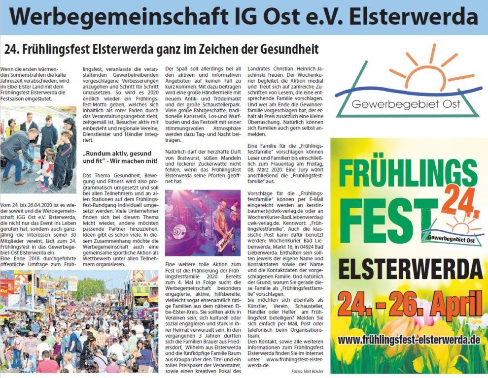 Elsterwerda Frühlingsfest 2020
