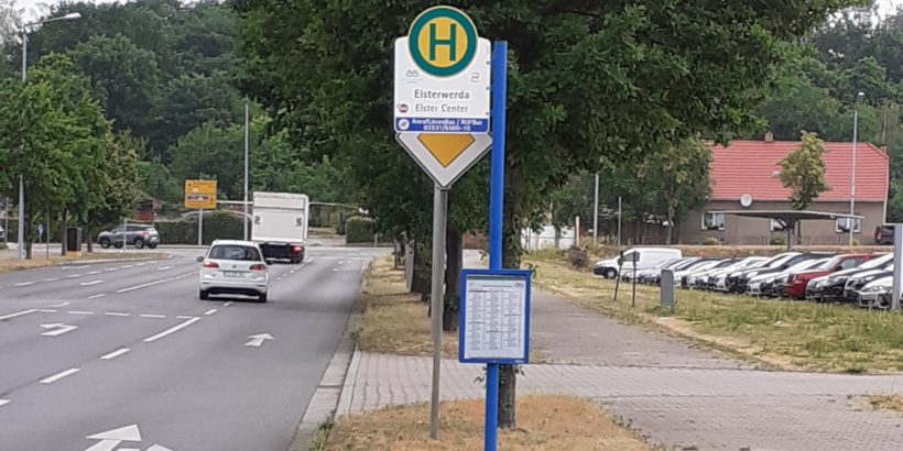 Bushaltestelle Zum Kalkberg (ElsterCenter) Elsterwerda