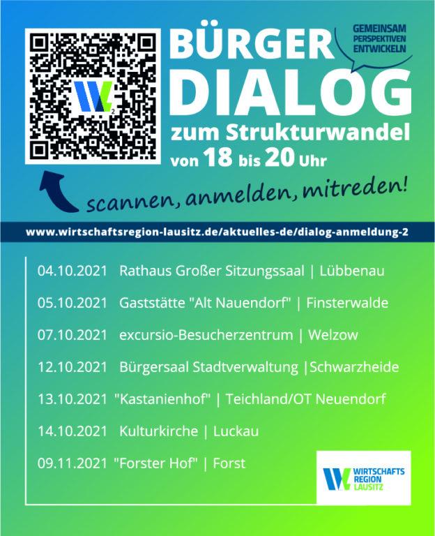 Anzeige_Bürgerdialogveranstaltung Wirtschaftsregion Lausitz
