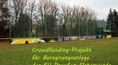 Crowdfunding-Projekt für Beregnungsanlage des SV Preußen Elsterwerda